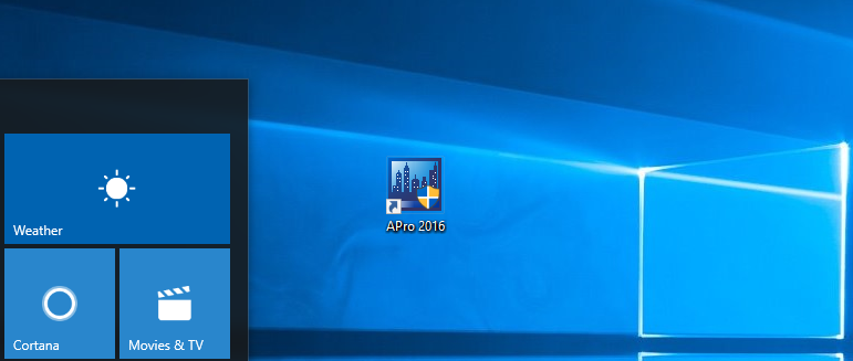 APro2016 en Windows 10